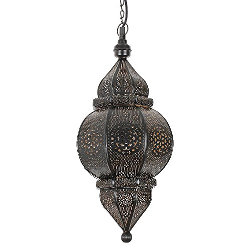 albena shop 71-0195 Kaja orientalische Lampe H 50cm / ø 23cm (schwarz)