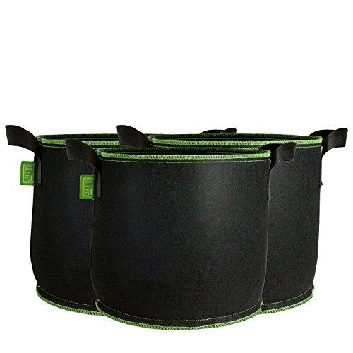 DIYer Pflanzsack aus Vliesstoff - 5 Gallonen, ca. 20 Liter - 3er Pack Pflanztasche Kartoffelsack Pflanzbeutel - Die gesunde Alternative