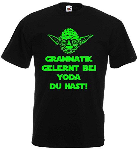 Master Yoda T-Shirt Star Wars Grammatik GELERNT BEI YODA DU HASTS