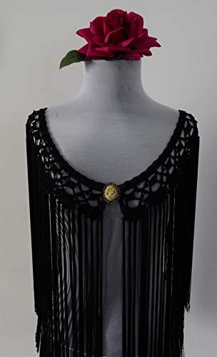 Mantoncillo de Flamenca negro 💛