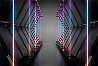 新しい7x5ft未来的な空間の背景現代の抽象的なネオンライト写真の背景SFイベント子供大人ポートレートYouTubeチャンネルパーティー装飾画像booth小道具デジタル壁紙