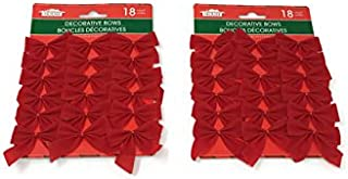 Christmas House Decorative Bows 36 Count 2.5in x 3in