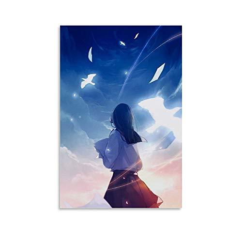 FWUYU Aesthetic Anime Cewe Poster Dekorative Malerei Leinwand Wandkunst Wohnzimmer Poster Schlafzimmer Gemälde 20 x 30 cm