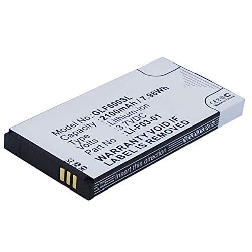 subtel®Batterij compatibel met Golf Buddy DSC-GB600 GB3-PT4 Platinum 4 PT4, LI-F03-01 2100mAh Vervangende Accu Battery