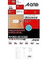 エーワン ニュースタンダードラベルA4 6面 72206 【まとめ買い3パックセット】 + 画材屋ドットコム ポストカードA