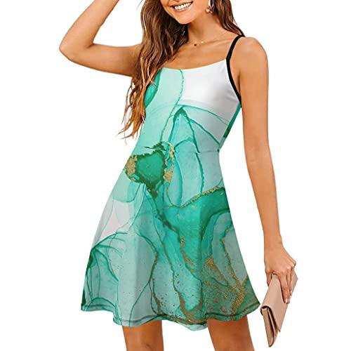 Vestido de mujer con textura de mármol, con dobladillo oscilante, elástico, estilo abstracto, para fiesta de club