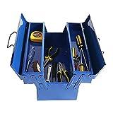 cassetta degli attrezzi Cassa di immagazzinaggio in metallo piccolo portautensili con vassoi pieghevoli a 3 strati portatili riparazione portatile hardware elettricista per uso domestico toolbox Casse