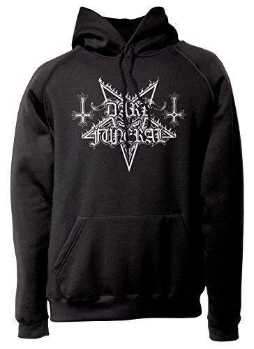 LaMAGLIERIA Sudadera Unisex Dark Funeral - Sudadera con Capucha Heavy Metal Rock...