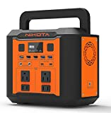 Nikota Portable Power Station 300W/80000mAh,296Wh Outdoor Portable Battery Solar Generators for Home Use, Camping , as Emergency Battery Cpap Battery Power Supply,home generators for power outages to use (Solar Panel Not Included)