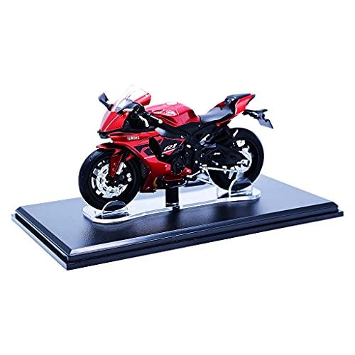 Colcolo 1:18 Modelo de Bicicleta de Motocicleta Roja para Caja a Prueba de Polvo de Juguete de Motocicleta