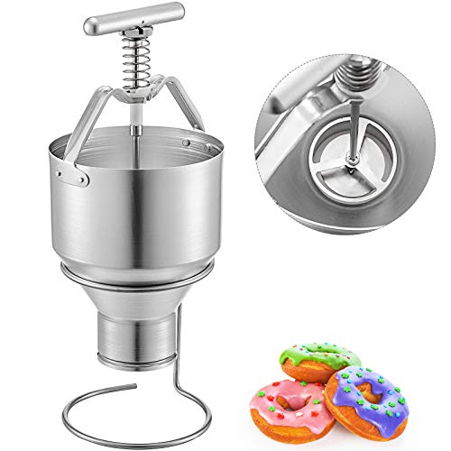 VEVOR Teigspender Edelstahl Pfannkuchen Teigspender für Donuts 5L Donutmaker Donut Depositor
