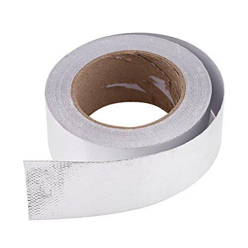 ROSEBEAR 1 Rollo de Cinta Adhesiva Resistente Al Calor Reflectante Adhesivo de Papel de Aluminio para Automóvil 1. Astilla de 9 X 82 Pies