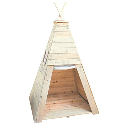 Big Game Hunters Wooden Playhouse Teepee Wigwam for Children