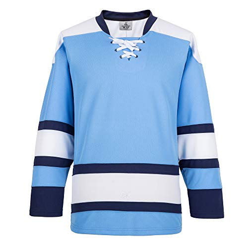 EALER H900-E Series Multicolor and Blank Ice Hockey League Sports Practice Jersey -Men and Boy- Adult and Youth-Senior to Junior(Blue,Medium)