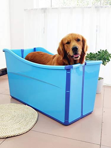 WWLONG Piscina Plegable Extra Grande para Perros de Verano,