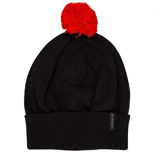 Adidas Originals Bonnet à Pompon en Noir Noir Rouge Accessoires