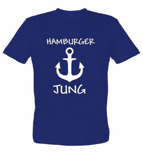 Hamburg T-Shirt Motiv Hamburger JUNG, dunkelblau, XL