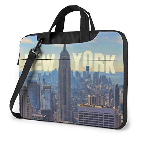 Schoudertas voor 15,6 inch tas met schouderriem voor 15,6 inch USA City Skyline Empire Building