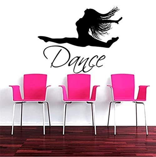 Pegatinas De Pared 57X73Cm Artista Chica Bailarina Baile Silueta Arte Hogar Niñas Dormitorio Diy Pared Decoración Especial Vinilo Tatuajes De Pared Mural