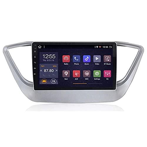 WY-CAR Radio De Automóvil Estéreo De Navegación De 9 Pulgadas para Hyundai Verna 2012-2018, Enlace De Espejo/FM/Bluetooth/GPS/Vista Trasera Cámara/Controles del Volante,8 Core-WiFi: 1+16G