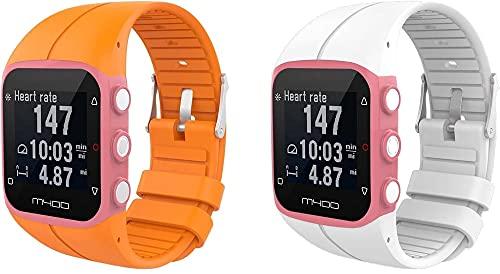 Chainfo Correa de Reloj Reemplazo Compatible con Polar M400 / M430, la Correa de Reloj Watch Band Accessorios (Pattern 3+Pattern 6)