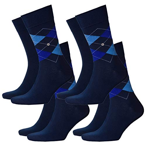 Burlington Herren Socken Everyday Mix 4er Pack, Größe:40-46, Farbe:Marine (6121)