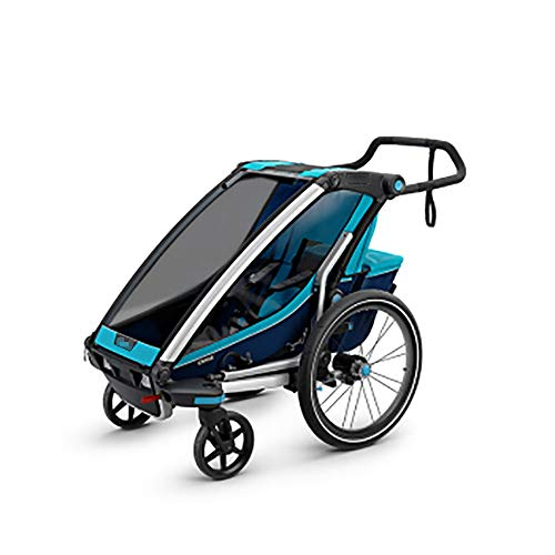 Review Of Child Bike Trailer 360 Swivel 2-in-1 Double Child Two-Wheel Bicycle Cargo Trailer and Jogg...