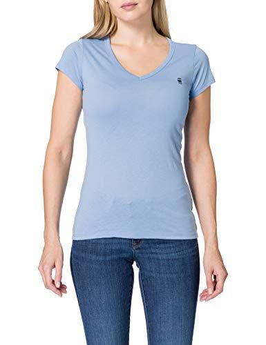 G-STAR RAW Eyben Slim Camiseta, Delta Blue 2757-1852, S para Mujer