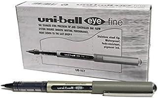 UB-157 Eye Fine Ballpoint Pens, Black Uni Super Ink.7mm Nib, Box of 12
