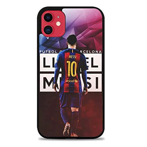 Fashion888 Messi Compatible para iPhone 11 12 Pro MAX XR XS MAX 6/7/8 Plus SE 2020 Funda para teléfono Negra Funda para teléfono móvil
