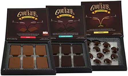 La Goulue Belgian Milk Chocolate Candy with Malbec wine filling Dark chocolate with Cabernet product image