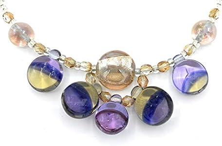 Collar de cristal de Murano antiguo Murrina veneciana VP14