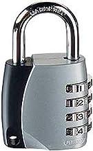 ABUS Cijferslot 155/40 - hangslot met gegoten zink - met individueel instelbare cijfercode - 30890 - niveau 4 - zilver
