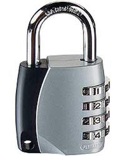 ABUS Zahlenschloss 155/40 - Vorhängeschloss mit Zinkdruckguss-Gehäuse - mit individuell einstellbarem Zahlencode - 30890 - Level 4 - Silber