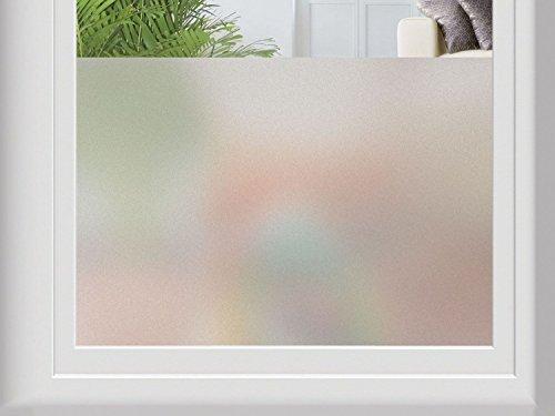 MELINERA® Fenster-Sichtschutzfolie, selbsthaftend - ohne Klebstoff - 67 x 200 cm (matt - ohne Muster)