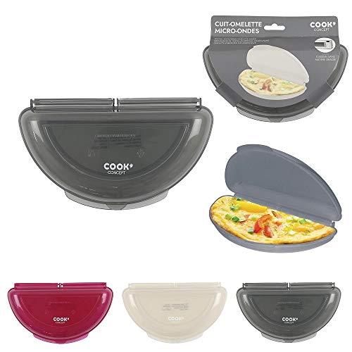 Les Colis Noirs LCN - Cuit Omelette Spécial Micro-Onde - Modèle Aléatoire - Œuf Oeuf Cuisson Cuisine - 512