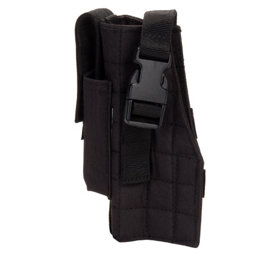 VooDoo Tactical 25-0029001001 Holster with Attached Mag Pouch, Right, Black