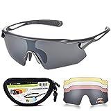Snowledge Sportbrille Fahrradbrille Herren und Damen Radsportbrille Sonnenbrille Erwachsene Sport