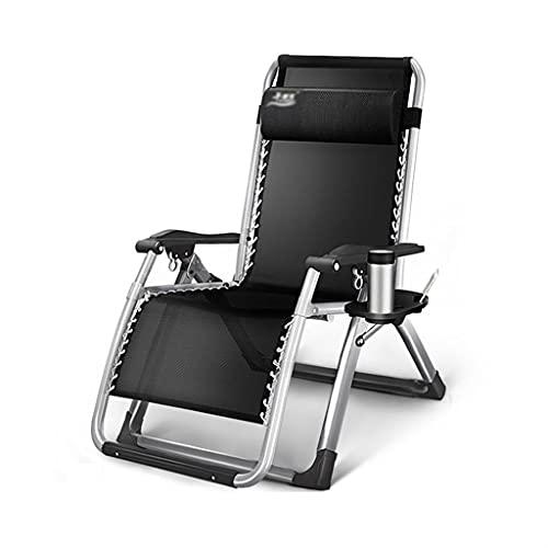 Sdraio Pieghevole Chaise Lounge Chair Pieghevole Patio Pieghevole Regolabile Zero Gravity Reclinabile Sedia da Giardino Letto da Campeggio con Poggiatesta per Portico Esterno del Cortile Poltrona