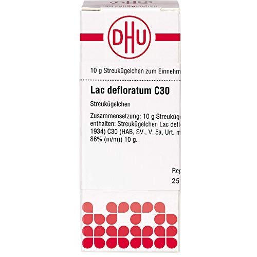 DHU Lac defloratum C30 Streukügelchen, 10 g Globuli