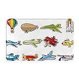 keiou Alfombras de baño,alfombras de baño,Aviones con Estilo de Dibujos Animados Avión de pasajer,Alfombras Antideslizantes Alfombras de baño Extra Suaves