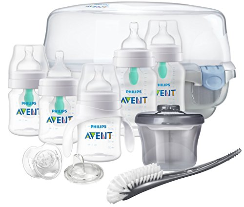 Philips Avent Anti-Colic Baby Bottle with AirFree Vent Gift Set Essentials, SCD398/02ST