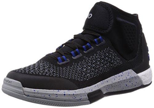 adidas Herren Basketball Schuhe  , Mehrfarbig - Schwarz/Blau/Weiß - Größe: 48 2/3 EU