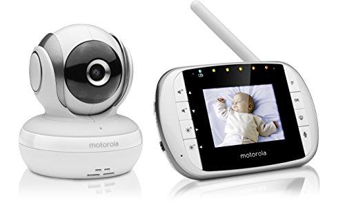 Motorola MBP 33S - Babyphone vidéo avec écran 2.8', éco mode, vision nocturne et capteur de la...