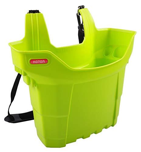 Keter gereedschapstas, gereedschaphouder, laddertas, tuingereedschapbox, poetsbox, klemmand, kleur: groen