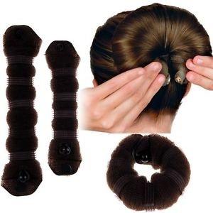 Boolavard® TM MARRON Hot Cheveux Tressage Styling Fabricant Chignon Bun Outil Crochet Coiffure Clip Bun Maker