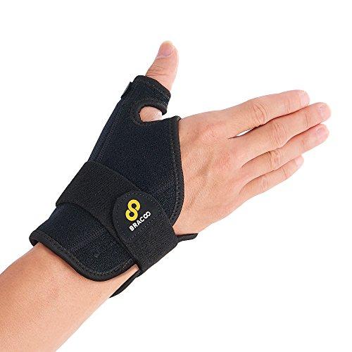 Bracoo TP32 親指サポーター 腱鞘炎 バネ指 突き指 手 手首 固定 親指 関節症 サポーター サムスタビライザー ブラック 左右兼用
