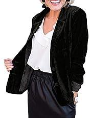 Damesblazers Fluwelen blazers met lange mouwen Jasje Slim Fit Casual revers Kantoorjasje Pak Comfortabele modieuze jas