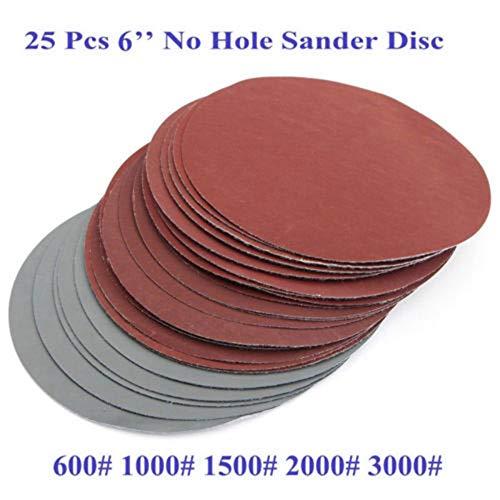 600# 1000# 1500# 2000# 3000# Discos de lijado Grano Rectificado Gancho Loop Papel de lija 150 mm Juego 6 ''Accesorios a estrenar, papel de lija