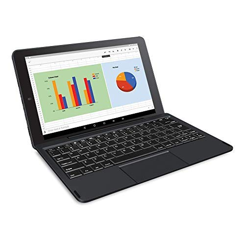 RCA Viking Pro 10' 2-in-1 Tablet 32GB Quad Core with Touchscreen and Detachable Keyboard Google Android 5.0
